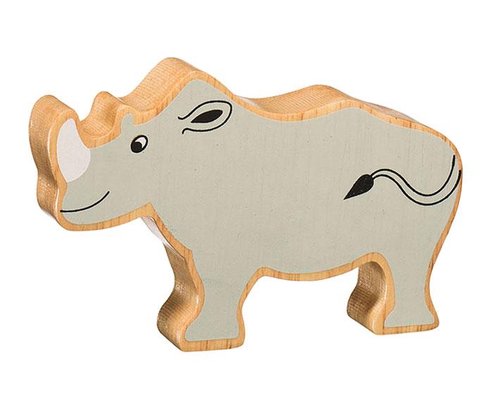 Noshörning av gummiträ handgjord FairTrade Lanka Kade