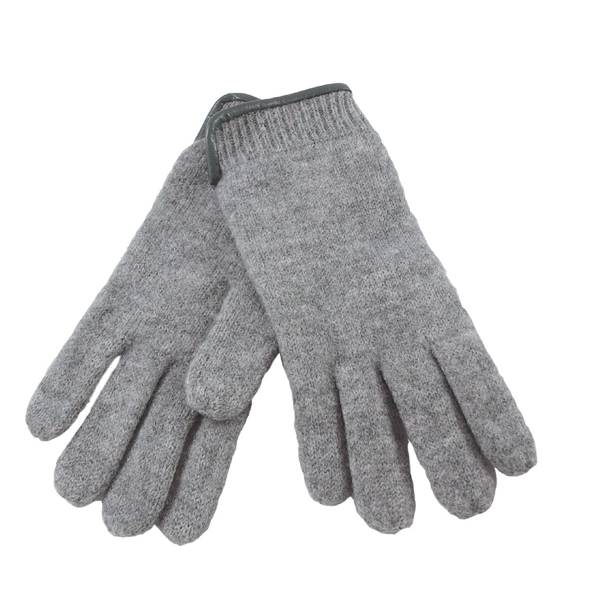 Janus dam fingerhandskar merinoull ljusgrå