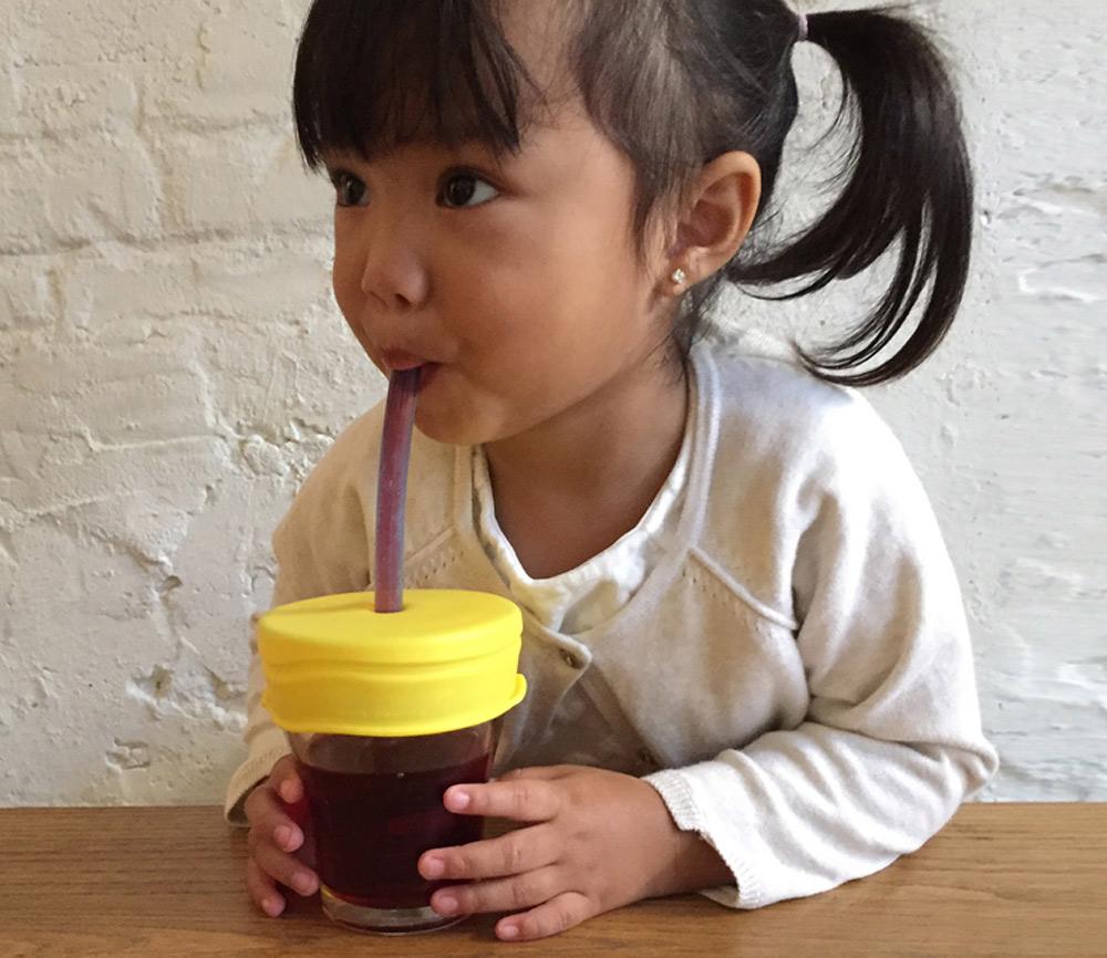 SipSnap silikonlock KID för sugrör 3-pack gult