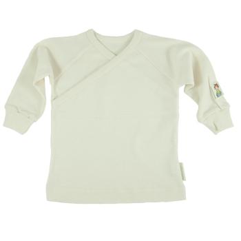 Minimundus tröja med omlotthals Coloured by Nature färgväxande 100% ekologisk bomull naturvit