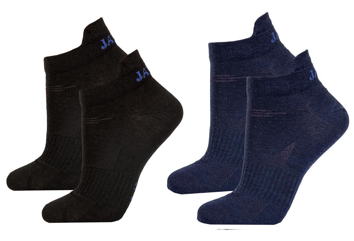 Janus ankelstrumpor av merinoull 2-pack svart och marinblå