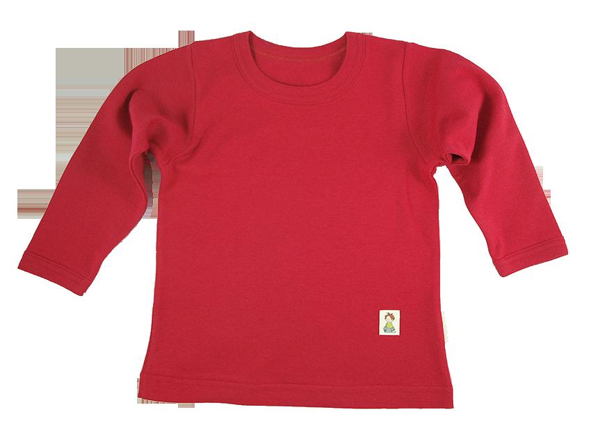 Tim&Teja tröja med lång ärm 100% ekologisk bomull ekologiskt färgad röd