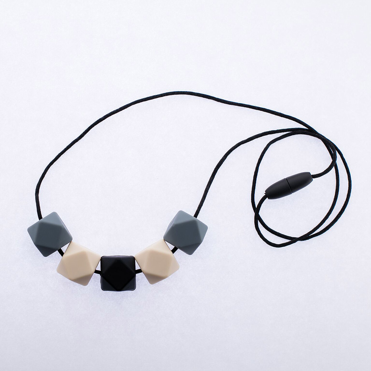 Bär- och amningshalsband av silikon smart grå beige svart