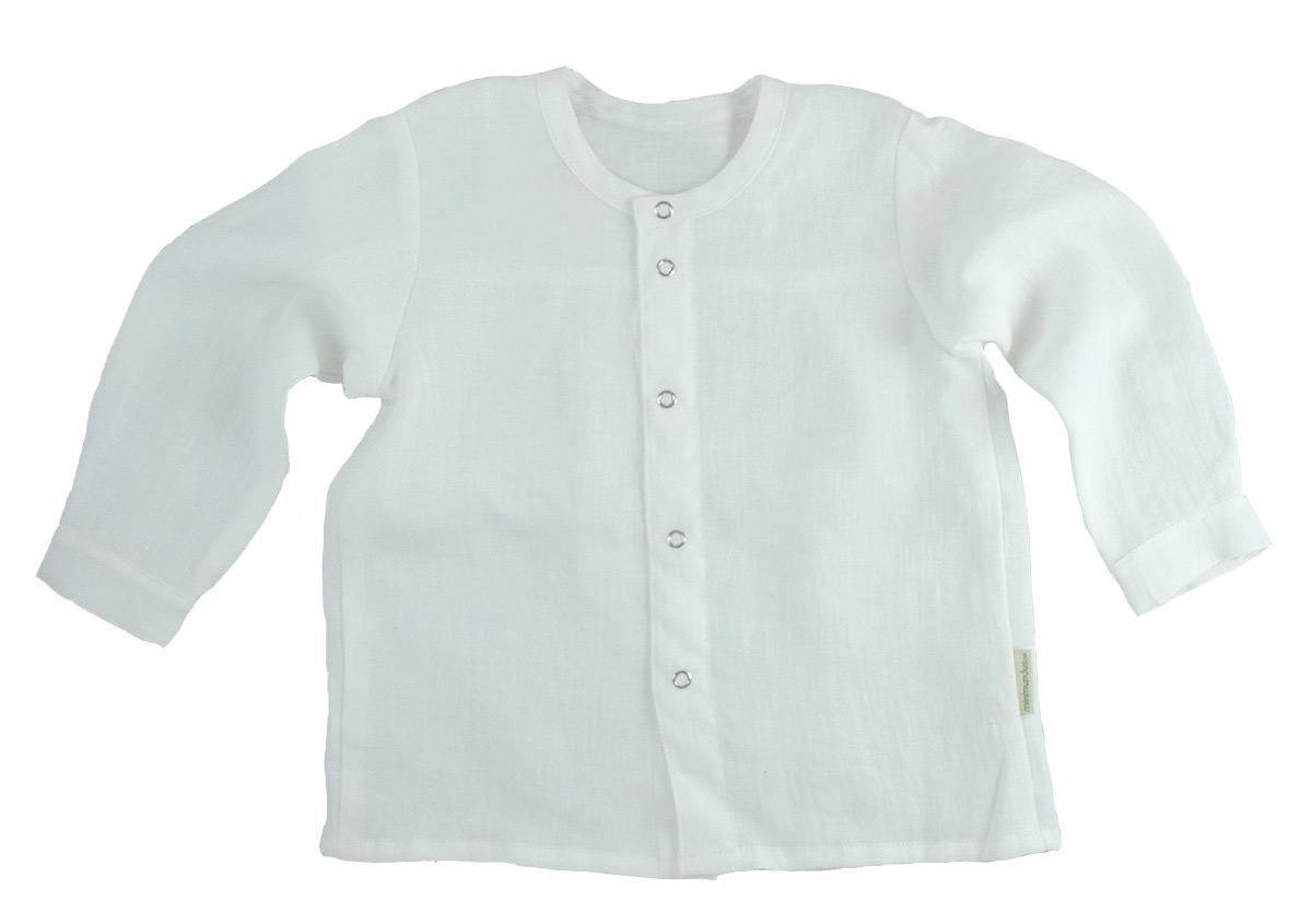 Minimundus skjorta av 100% ekologiskt lin vit