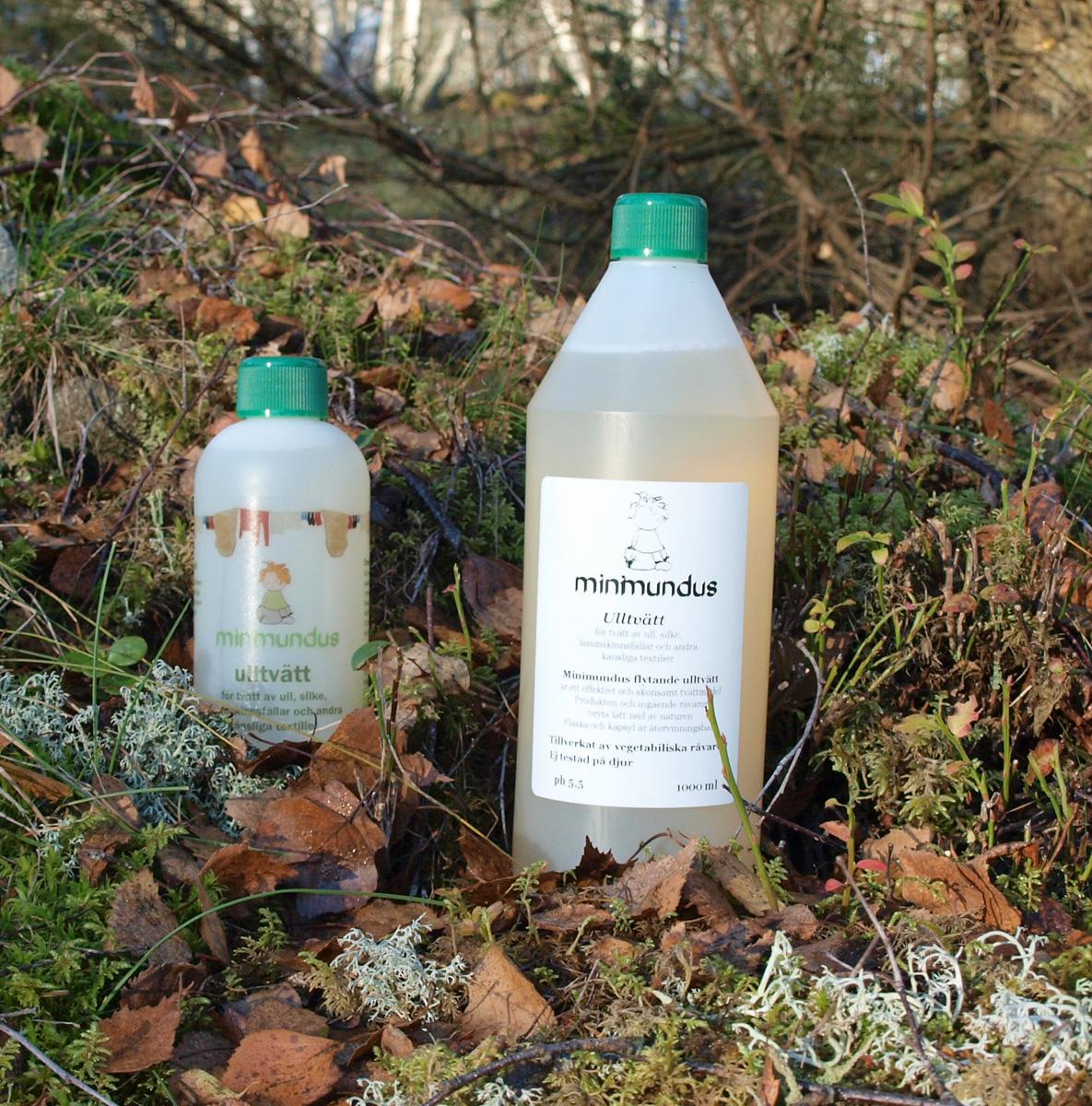 Minimundus ulltvättmedel med lanolin 300 ml och 1 liter