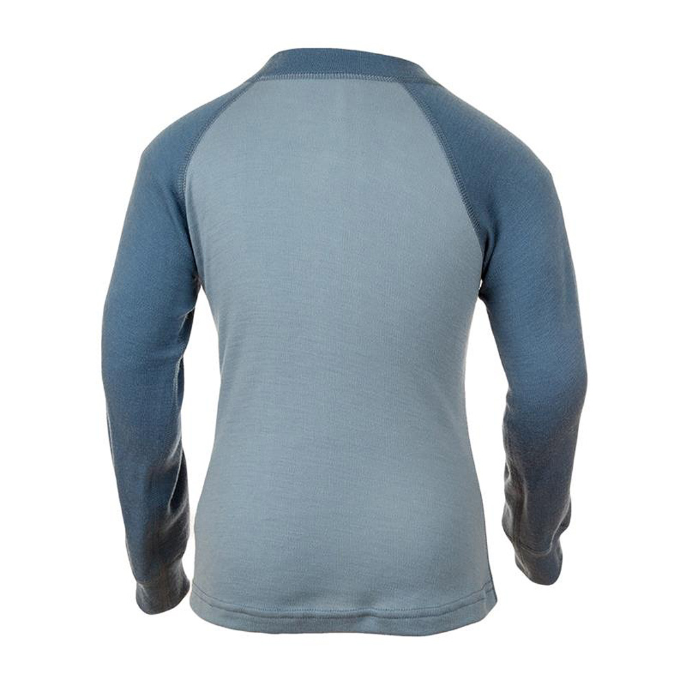 Janus Riddar Slitstark ulltröja 100% merinoull blå