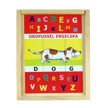 10 engelska ord pussel i låda Hjelms