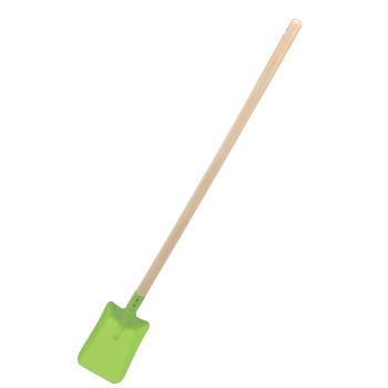 Skyffel av plåt med träskaft GOKI grön