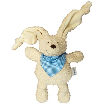 Cuddle Rabby Ljusblå sjal ekologisk bomull stoppad med ull Keptin-Jr