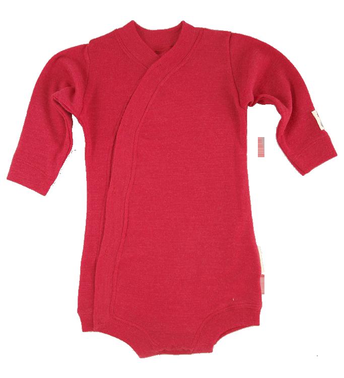 Minimundus body av 100% merinoull BlueSign röd