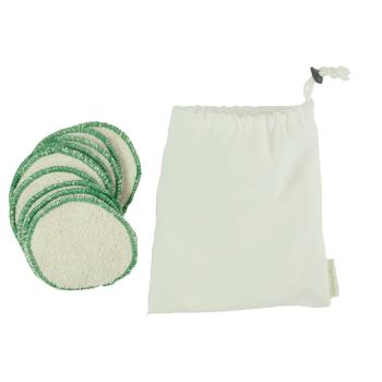 Minimundus rengöringspads av ekologisk bomullsfrotté 10 st i påse av ekologisk bomull