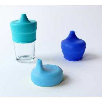 SipSnap TOT läckagesäkert lock av silikon pipmugg blå