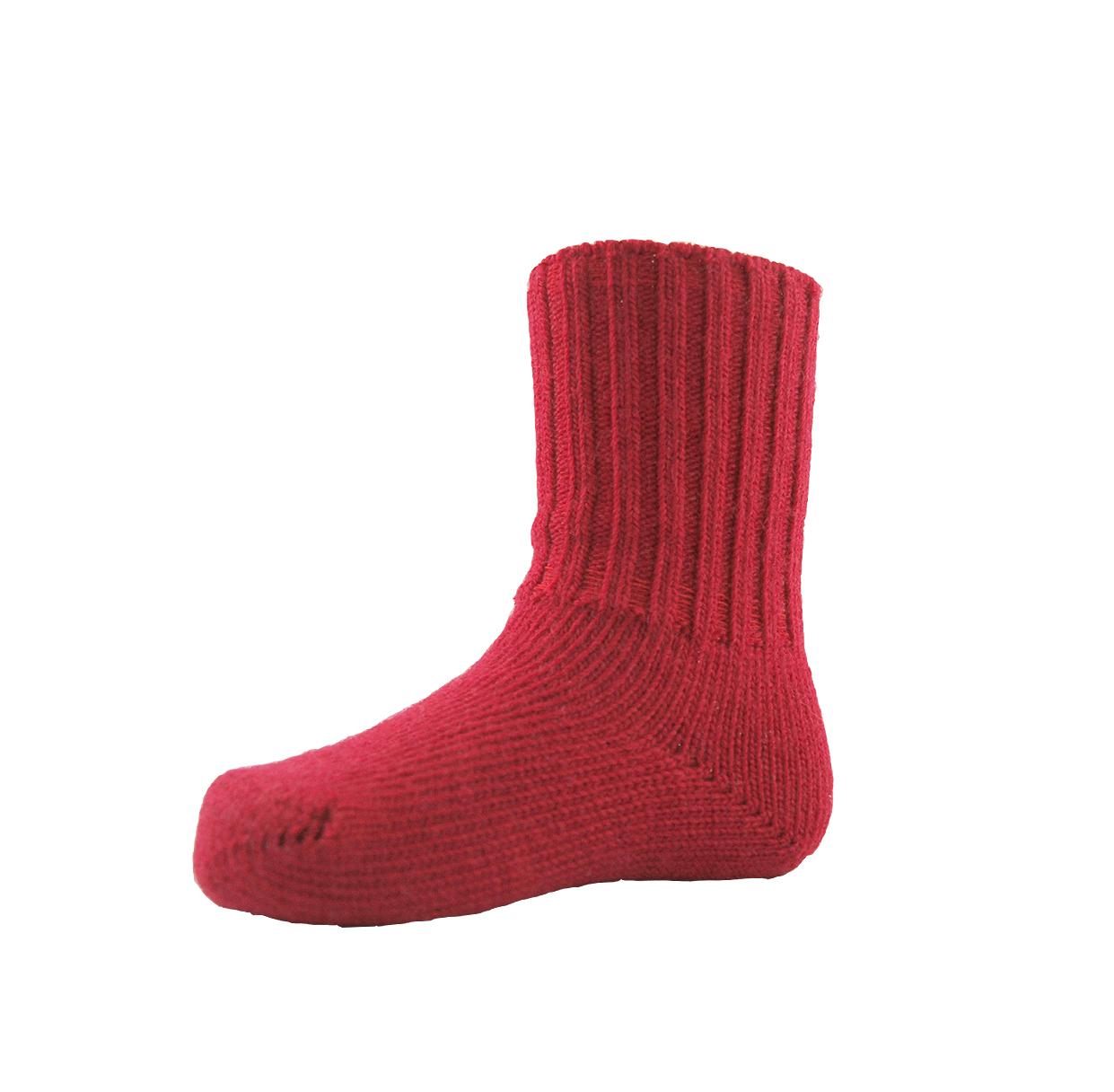 Minimundus ullstrumpor barn merinoull röd