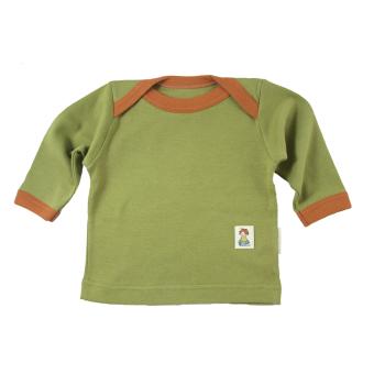 Tim&Teja klaffhalströja 100% ekologisk bomull ekologiskt färgad grön