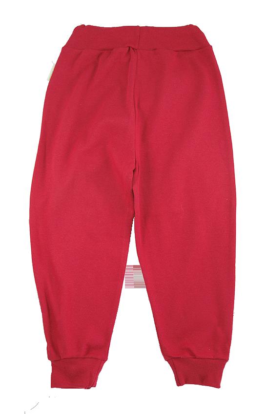 Tim&Teja joggingbyxor 100% ekologisk bomull ekologiskt färgad röd