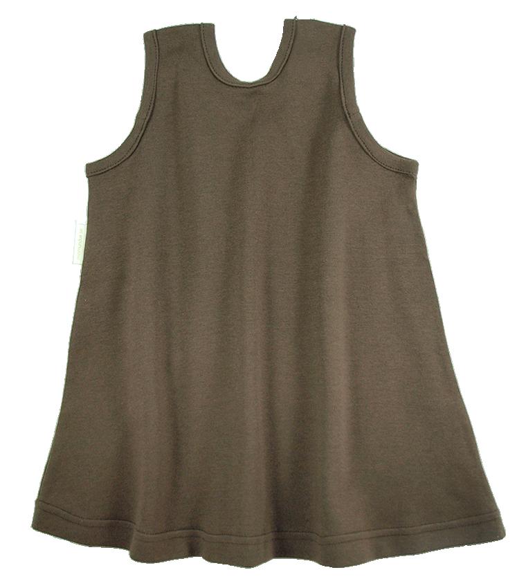 Tim&Teja hängselklänning 100% ekologisk bomull ekologiskt färgad brun