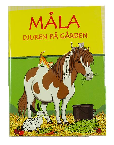 Målarbok Djuren på gården 16 bilder