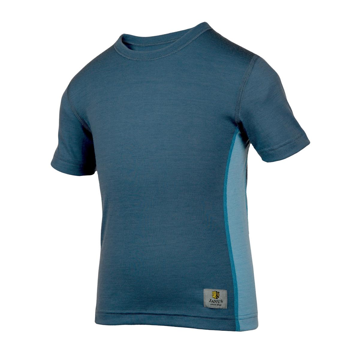 Janus lightWool t-shirt 100% merinoull blå