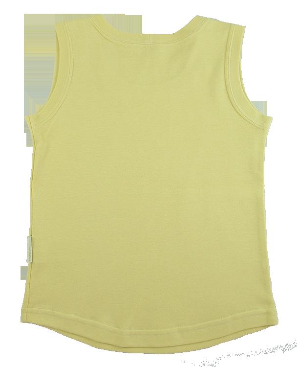 Tim&Teja linne av 100% ekobomull ekologiskt färgad gul