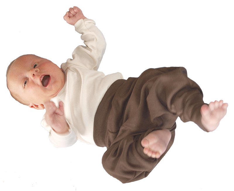 Tim&Teja babyjogging byxor 100% ekologisk bomull ekofärgad brun