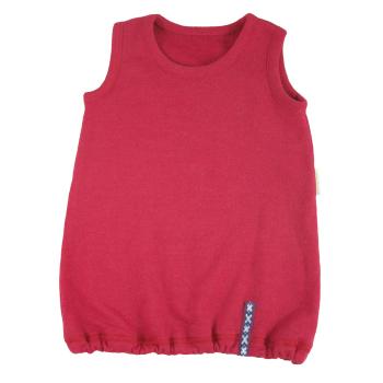 Minimundus tunika klänning av ullfrotté 100% merinoull röd