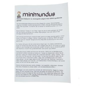 Minimundus stickbeskrivning för blöjbyxor