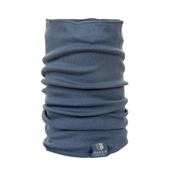 Tubhalsduk, neckwarmer Janus 100% merinoull blå