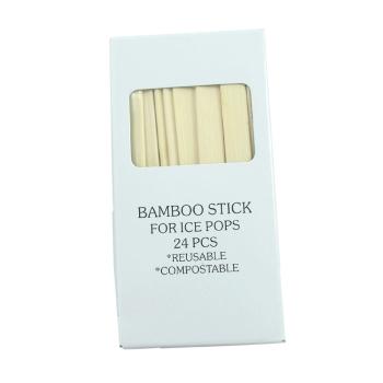 glasspinnar av bambu till glassformar av rostfritt stål