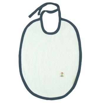 Haklapp med fuktspärr ekologisk bomullsfrotté marinblå/oblekt