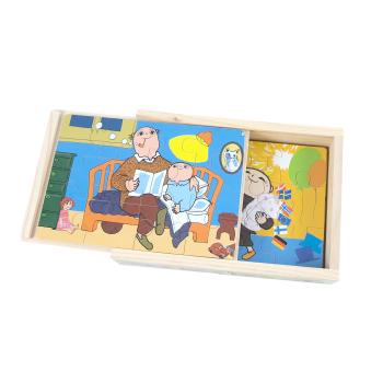Fyra pussel i låda Alfons Åberg