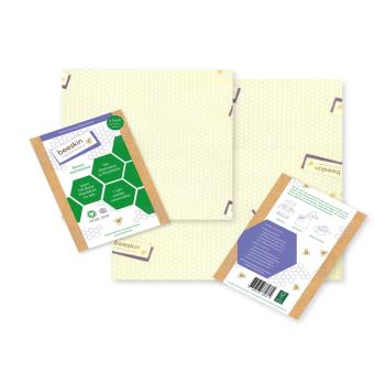 Beeskin M +L 2-pack bivaxduk det naturliga, återanvändbara och hållbara alternativet till plastfolie.