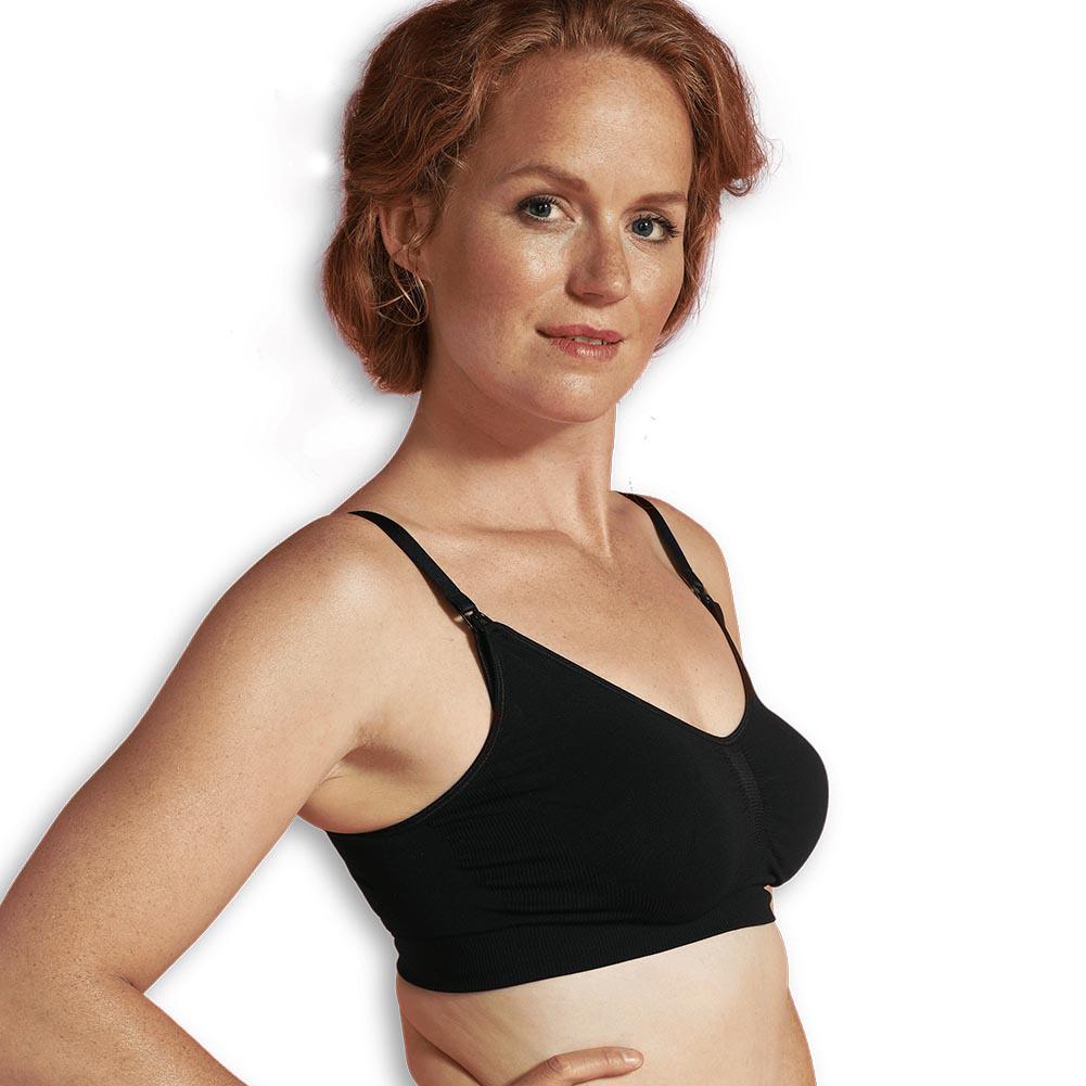 Carriwell gravid- och amningsbh utan sömmar svart