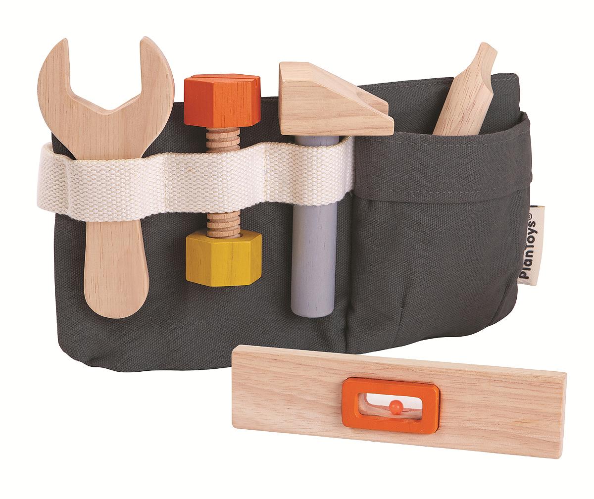 Verktygsbälte, snickarbälte 6 delar Plan Toys