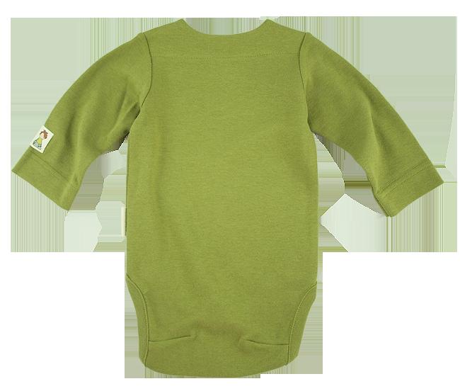 Tim&Teja body med tryck 100% ekologisk bomull ekologiskt färgad grön