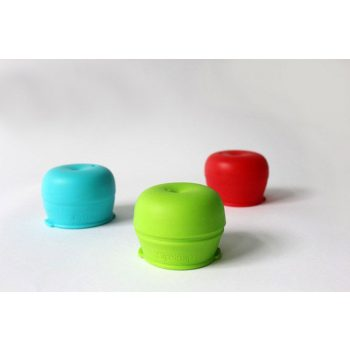 SipSnap KID läckagesäkert lock av silikon för sugrör sandbox röd blå grön