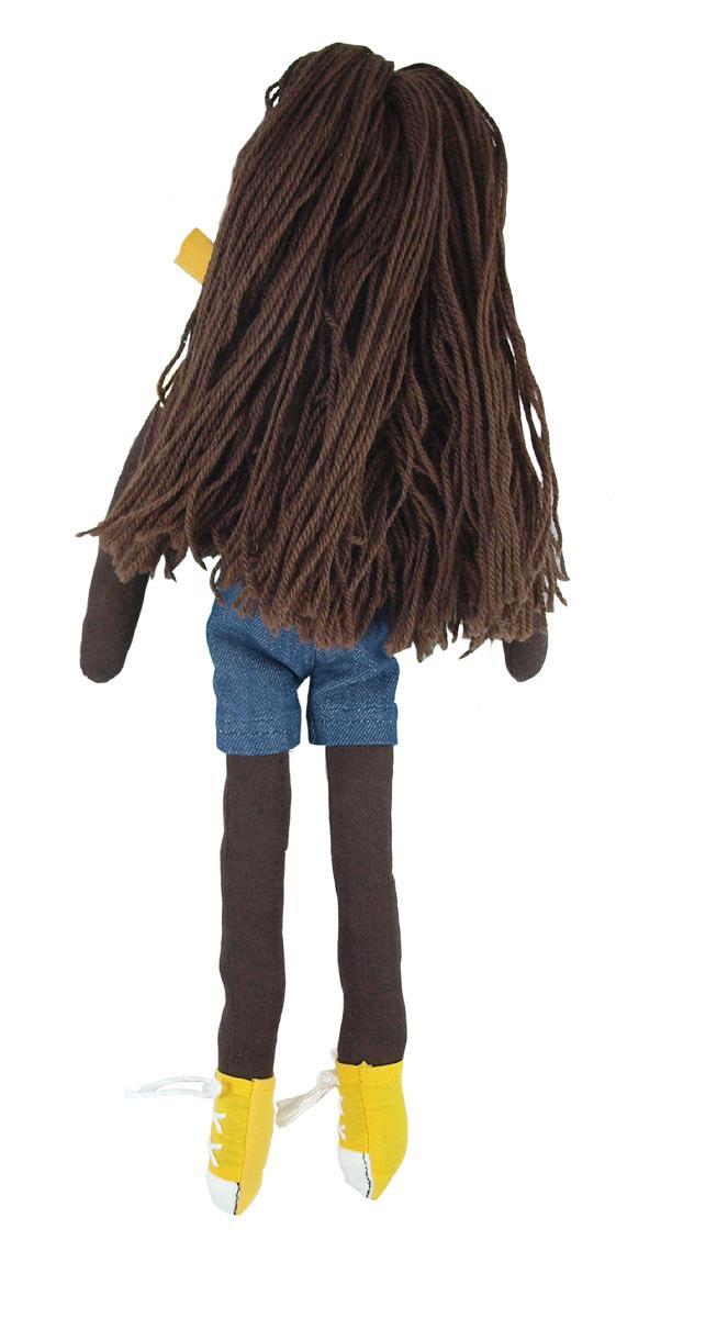 Ekologisk docka Emily 40 cm stoppad med ull Hoppa