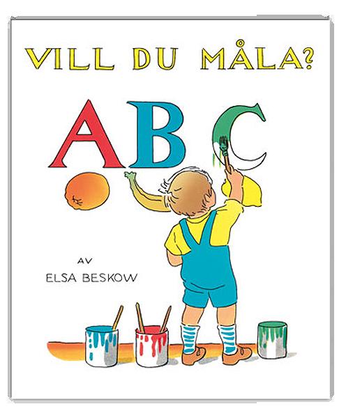 Målarbok Elsa Beskow ABC