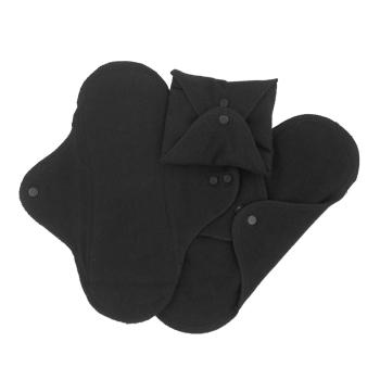 ImseVimse ekologiska tygbindor dag svart 3-pack