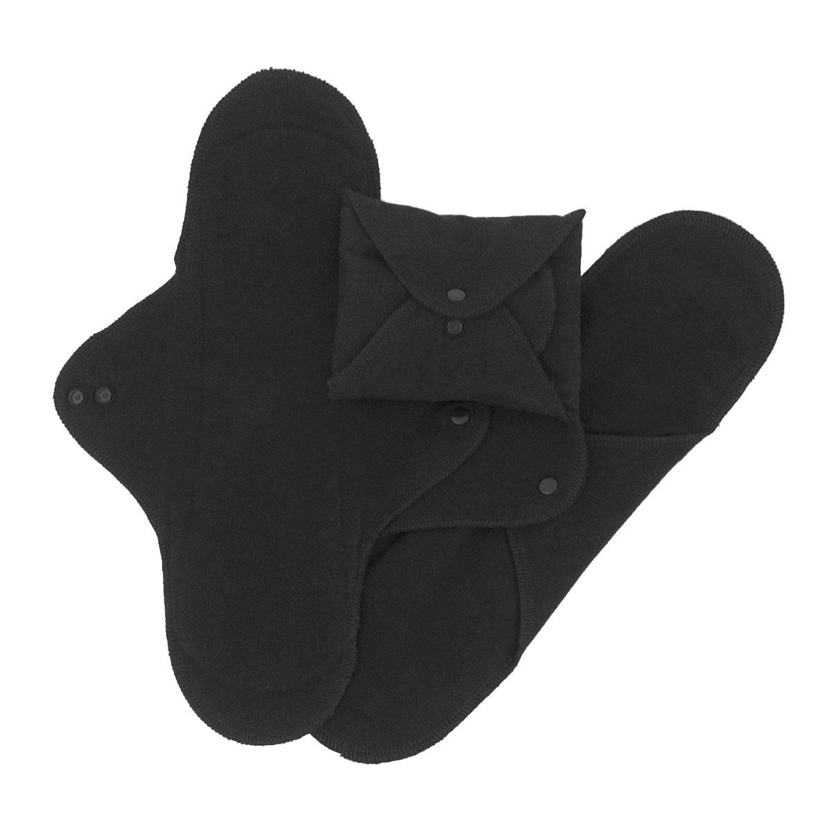 ImseVimse ekologiskaImseVimse tygbinda Classic large/natt ekologisk svart 3-pack
