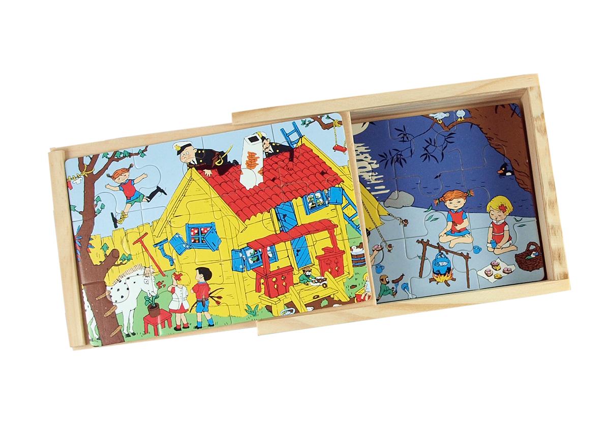 Fyra pussel i låda Pippi of Today Hjelms