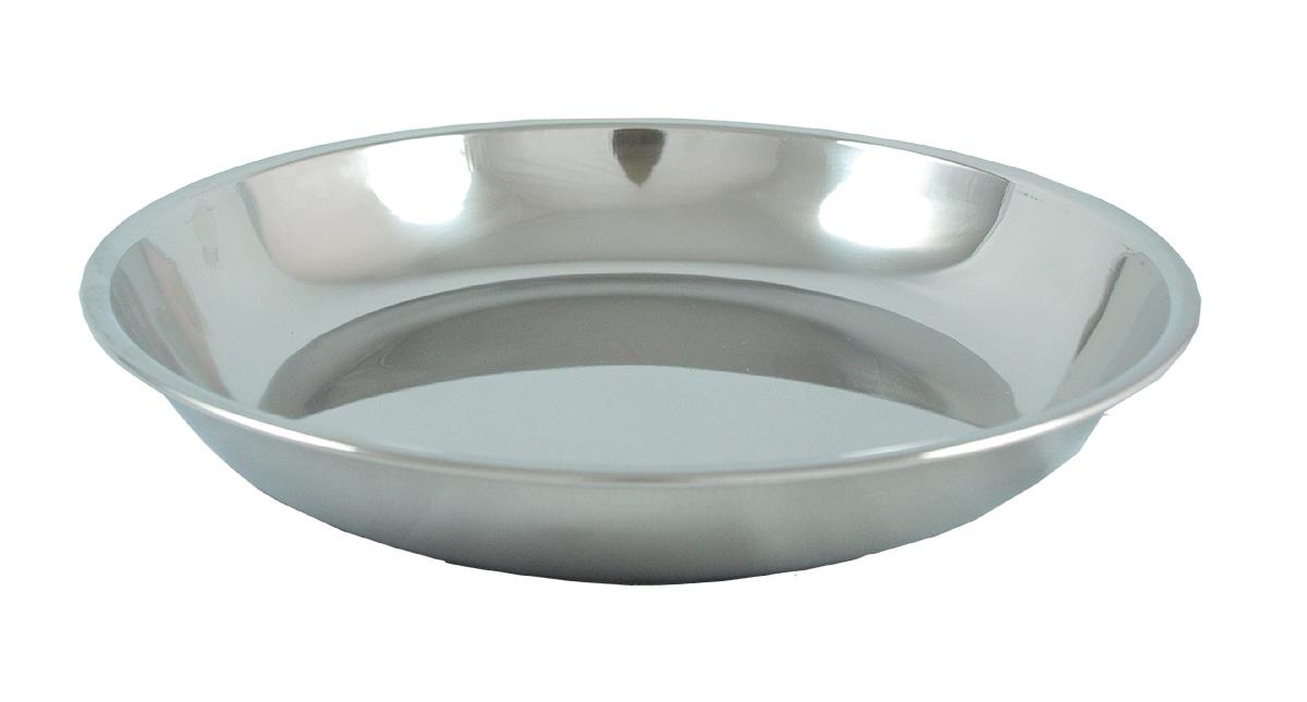 Tallrik 22cm rund rostfritt stål hög kant