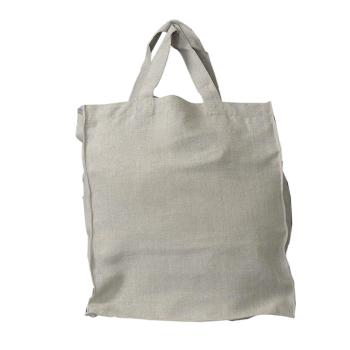Totebag kasse väska av 100% grovt lin oblekt