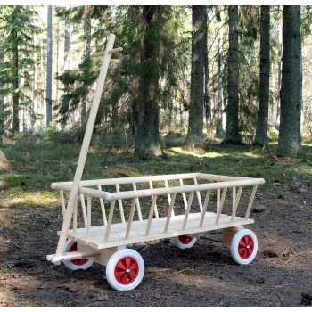 Skrinda av trä för barn svensk furu tillverkad i Sverige
