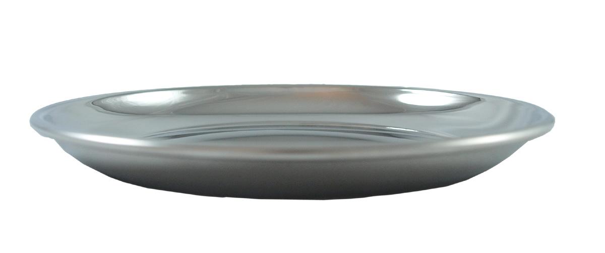 Tallrik av rostfritt stål 14 cm i diameter
