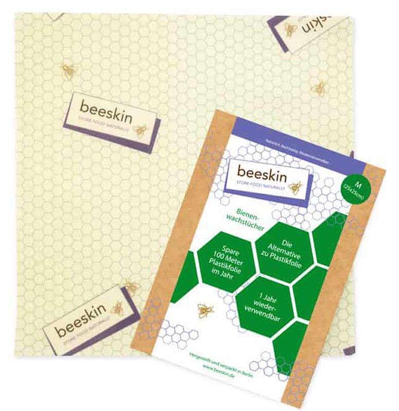 Beeskin M bivaxduk det naturliga, återanvändbara och hållbara alternativet till plastfolie.