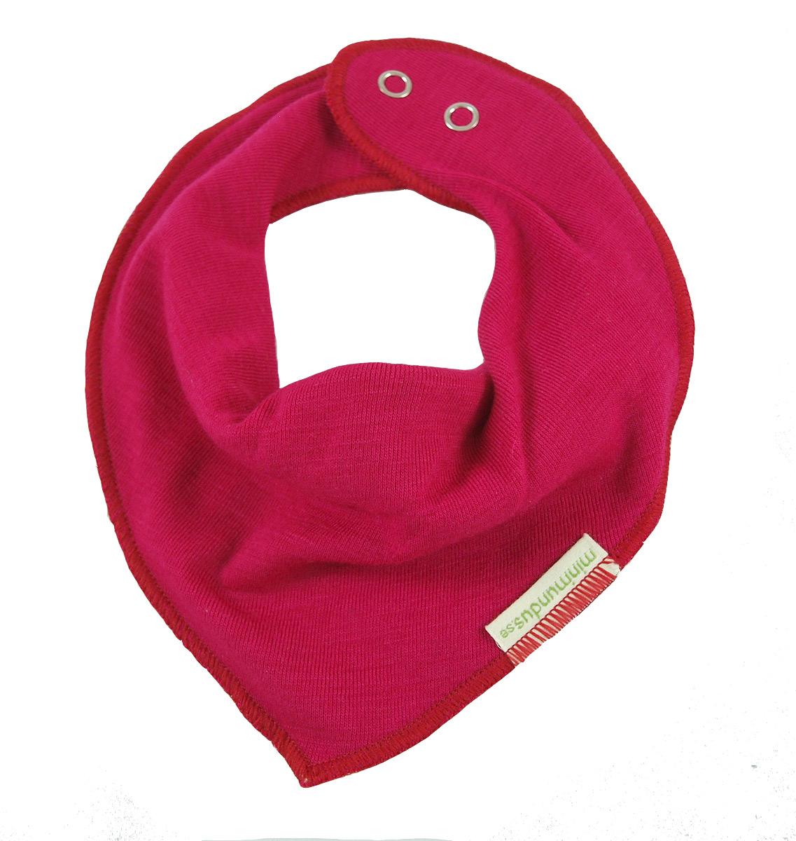 Minimundus dregglis dregelcarf 100% ekologisk merinoull cerise