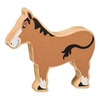 Häst av gummiträ handgjord FairTrade Lanka Kade