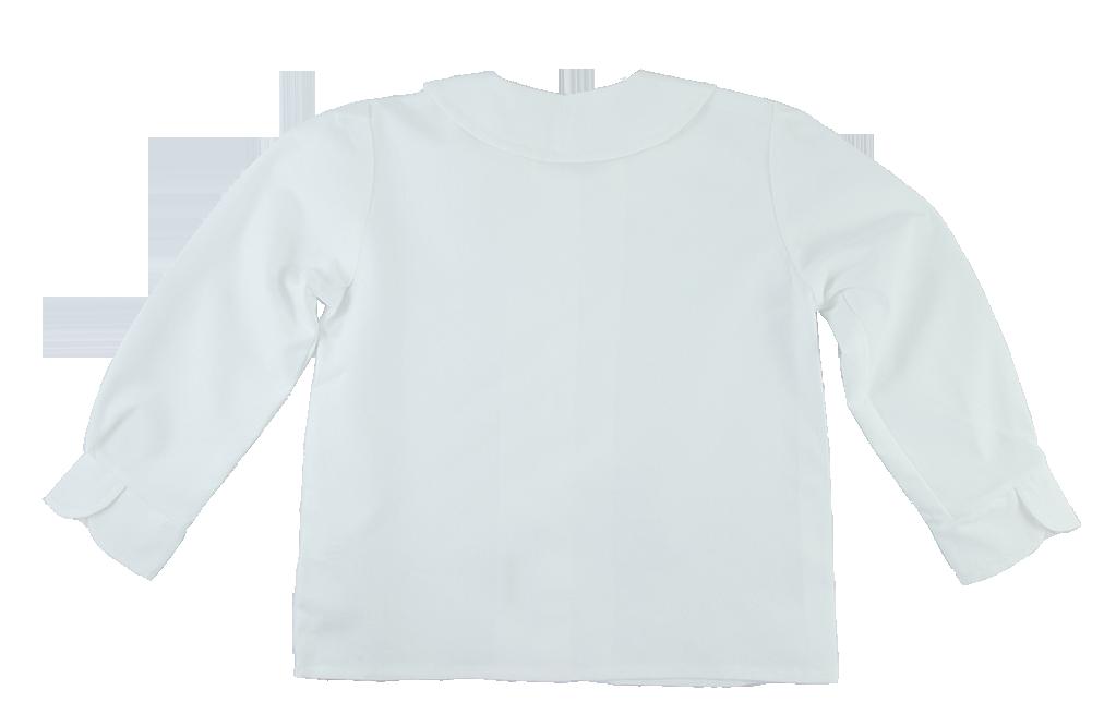 Minimundus blus av ekologisk bomull vit