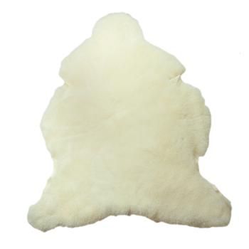 Lammskinnsfäll vegetabiliskt garvad vit för baby svensk