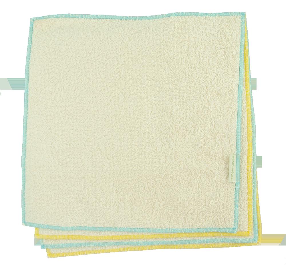 Minimundus tvättlappar 4 st av 100% ekologisk bomullsfrotté